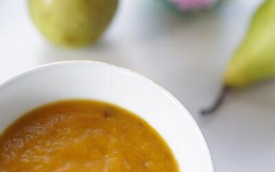 Zupa dyniowo – gruszkowa